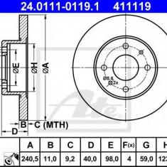 Disc frana FIAT PANDA 1.2 - ATE 24.0111-0119.1 - Discuri frana REINZ