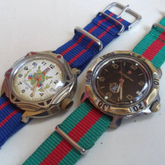 Doua ceasuri colectie Wostok Komandirskie, cal 2414A / 17Jewels, functionale - Ceas de mana