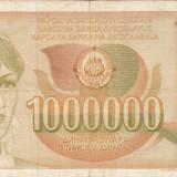 IUGOSLAVIA 1.000.000 dinara 1989 VF!!!