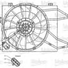 Ventilator, radiator OPEL VECTRA B hatchback 1.8 i 16V - VALEO 698344 - Ventilatoare auto