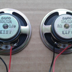 Difuzor SANYO Japan 8 ohmi 0, 4 W 100 bucati difuzoare de calitate ca noi