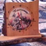 Ceas din lemn cu Romania - Ceas de masa