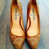 Pantofi - Pantofi dama, Marime: 37, Culoare: Coffee