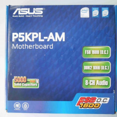 Placa de Baza Asus P5KPL-AM DDR2 PCI Express socket 775, Pentru INTEL, LGA775, MicroATX