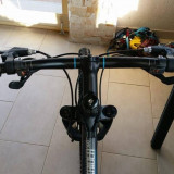 Bicicleta B'twin Rockrider 500, 26 inchi, Aluminiu, discuri, Sram X4 - Mountain Bike, Numar viteze: 7