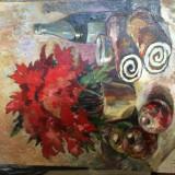 Pictura pe carton in ulei anii 70