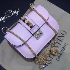 Genti Valentino Rockstud Small Chain Cross Body Collection 2016 * LuxuryBags * - Geanta Dama Valentino, Culoare: Din imagine, Marime: Masura unica, Geanta de umar, Piele