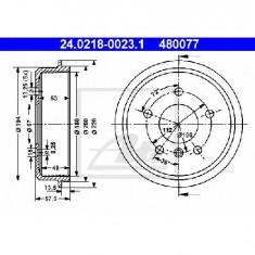 Tambur frana MERCEDES-BENZ A CLASS W168 PRODUCATOR ATE 24.0218-0023.1