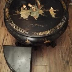 Masuta China cu 4 scaune - Mobilier, Mese si seturi de masa, Oriental, 1900 - 1949
