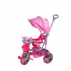 Tricicleta DhsBaby Merry Ride roz - Tricicleta copii DHS Baby, Fata