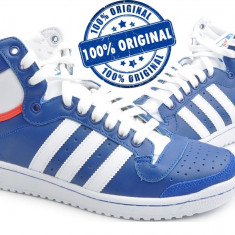 Adidasi barbat Adidas Originals Top Ten Hi - adidasi originali - ghete piele - Adidasi barbati, Marime: 40, 46, Culoare: Albastru, Piele naturala