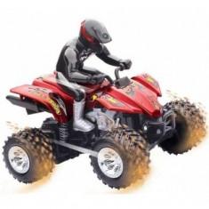 Generic Jucarie ATV Teleghidat Speed Demon TG540, 16 x 12 x 16 cm, culori negru, gri, rosu si albastru
