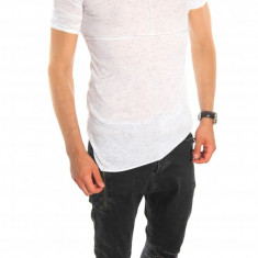 Tricou tip ZARA bleumarin - tricou barbati - tricou slim fit - 6543, Marime: S, M, L, XL, Culoare: Din imagine