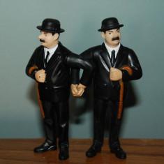 2 figurine gemenii Dupont din filmul Aventurile lui Tintin, 9cm, McDONALDs 2011