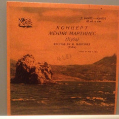 RECITAL BY M. MARTINEZ - MUZICA DIN CUBA (6553/USSR) - disc VINIL SINGLE 7