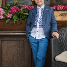 Sacou Iridor baieti Greece (Culoare: albastru, Imbracaminte pentru varsta: 9 ani - 134 cm)