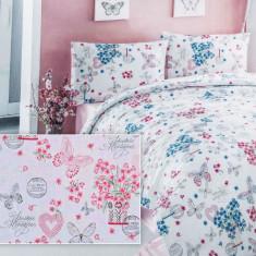 Lenjerie de pat din bumbac Valentini Bianco VKR10 Agapy Rosu