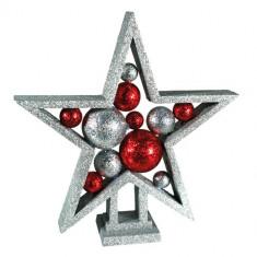 Stea de Crăciun Sclipitoare cu Bile - Ornamente Craciun