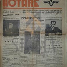 ION BOGDAN, VINTILA ECONOMU CORBU - ZIARUL HOTARE AN. 1 NR. 1, 20 MAI 1941