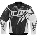MXE Geaca moto textil Icon Hooligan Spaztyk, alb Cod Produs: 28202967PE - Imbracaminte moto