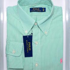 Camasi Ralph Lauren green stripes XXL - Camasa barbati Ralph Lauren, Marime: 44, Culoare: Verde, Maneca lunga