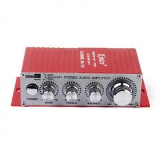 KINTER Amplificator 12V sau la retea 220V auto moto MP3 DVD CD USB out NOU - Amplificator audio, 0-40W