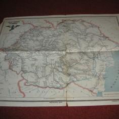 Harta veche - Caile ferate romane (1923)