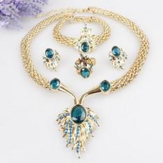 Farmecul Seturi bijuterii 18K placate cu aur Bijuterii de nunta pandora