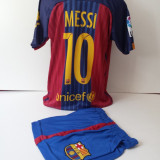 Echipamente sportive copii FC.Barcelona Messi compleu fotbal model nou 2016-2017 - Set echipament fotbal, Marime: Alta