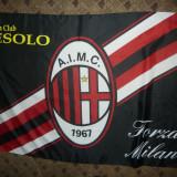 Steag Echipa de Fotbal A.C.Milan , matase , dim.= 142 x 95 cm