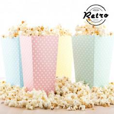 Cutii pentru Popcorn cu Buline (pachet de 10)