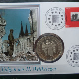 1995 Germania - FDC si medalie ( Die Folgen des II. Weltkrieges )., Europa