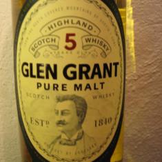 Whisky glen grant, 5 yeard . pure malt, cl 70 gr 40 ani 80