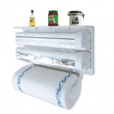 Dispenser de bucatarie triplu pentru hartie, folie aluminiu si folie stretch - Bucatarie standard