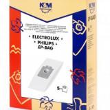 Sac aspirator Electrolux-Philips Universal (S-Bag), hartie, 5X saci, K&M