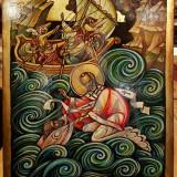 Tablou - ICOANA, VINTILA MIHAESCU, SF. IERARH NICOLAE, ulei/lemn, 55cm x 40 cm
