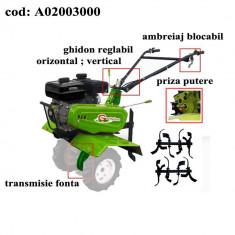Gardelina Motocultor A02003000, 7 CP, freze, 1000 mm