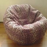 Fotoliu puf leopard, fotolii cu husa detasabila din material textil - Fotoliu living