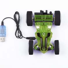 Masina Telecomanda Stunt Car Two Side Green-Blue - 24611 - Jocuri Logica si inteligenta Revell
