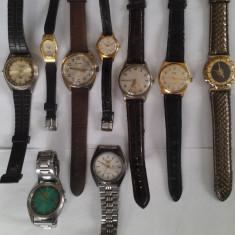 Colectii - Ceasuri mec. de firma, ceasuri placate cu aur- 8 buc.