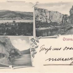 ORSOVA, KAZANE, CIRCULATA, STAMPILA JUN. ''98 - Carte Postala Oltenia pana la 1904, Printata