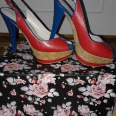 Sandale dama - Sandale piele cu platforma Nine West