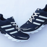 Adidasi Adidas SpringBlade TechFit Panza Indigo/Alb Model Nou 2016 - Adidasi barbati, Textil