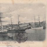 Carte Postala, Constanta, Circulata, Printata - SALUTARI DIN ROMANIA, PORTUL CONSTANTA, CIRCULATA ''900