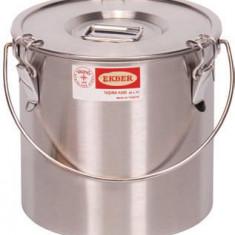 Container inox cu fund dublu pentru transportat mancare, 14 litri