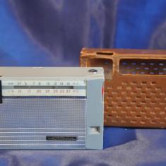 Radio portabil Anii 60 SHARP 2 BAND TRANSISTOR 6. Radio vechi, de colectie + Husa - Aparat radio