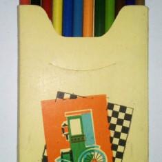 Pachet 12 creioane colorate de colectie PASTELCOLOR - anii '70
