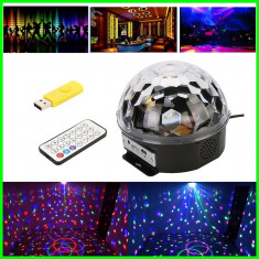 Glob MODEL LASER DISCO LED Lumini CLUB PARTY + telecomanda stick