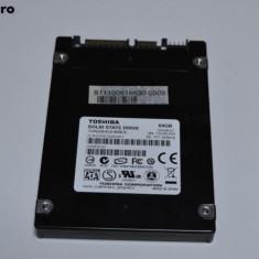 SSD TOSHIBA 64GB 2.5 inch SATA2 3GB/s pentru laptop/desktop/miniPC/all-in-one PC