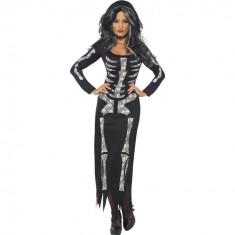 Costum Halloween - Rochie Schelet XL - Carnaval24